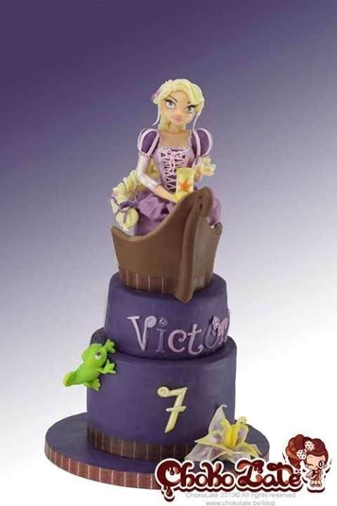 Rapunzel Cake Decorating Kit : 63 best RAPUNZEL Fondant Cake images on Pinterest