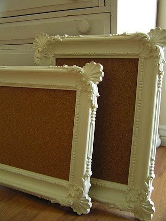 picture frame cork boards for dorm room or office