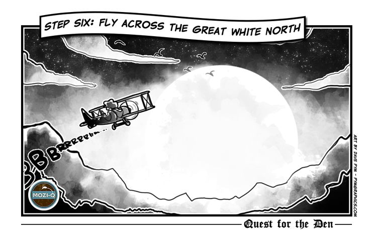 Step 6: Fly across to the Great White North