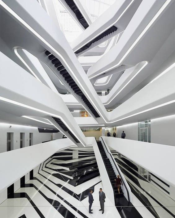 Zaha Hadid's New M.C. Escher-esque Office Building In Moscow Will Play Tricks On Your Eye