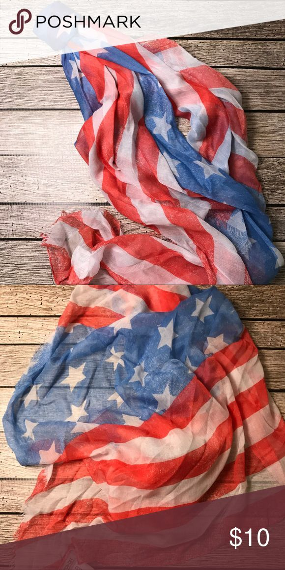 NEW 🇺🇸Americana Scarf •USA flag scarf •NEW •Vintage wash Cotton On Accessories Scarves & Wraps