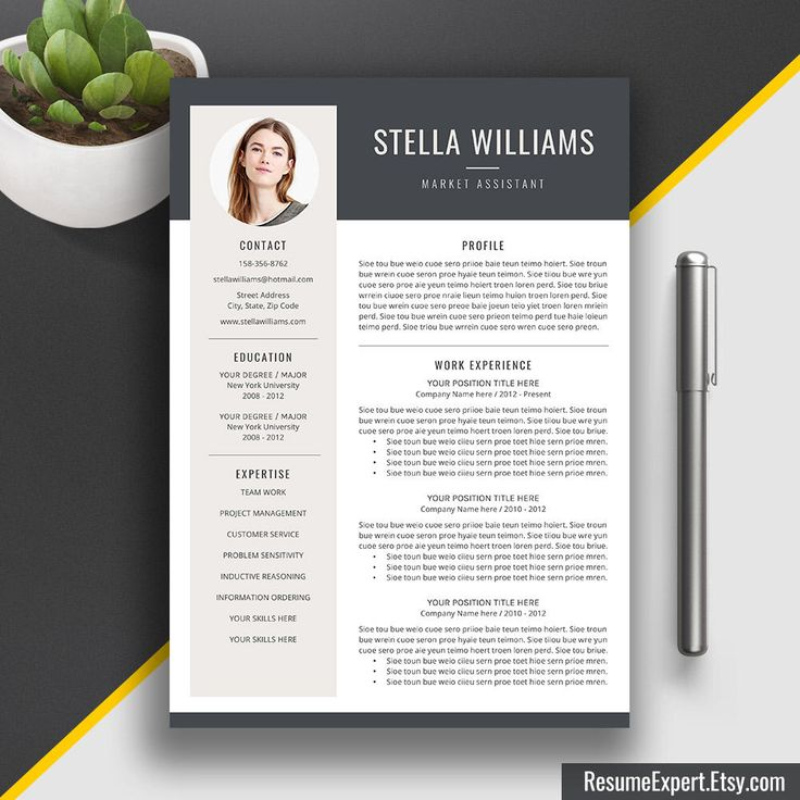17 beste ideer om Professional Cover Letter Template på Pinterest - creative resume template download free