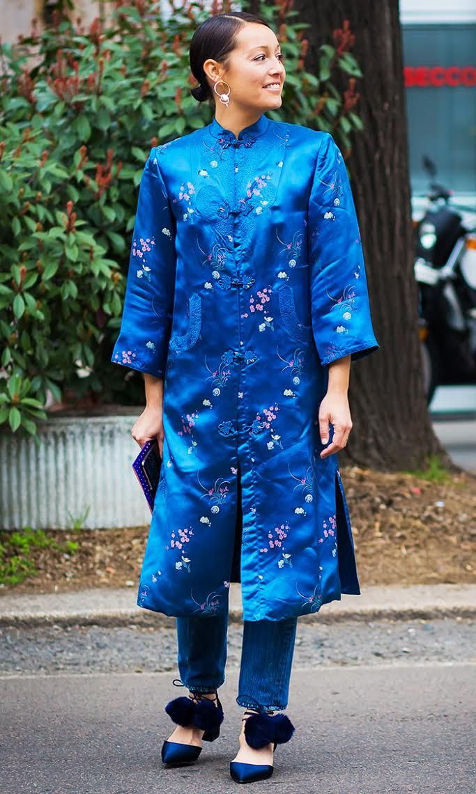The Best Kimono Outfits From Fashion Insiders via @WhoWhatWear