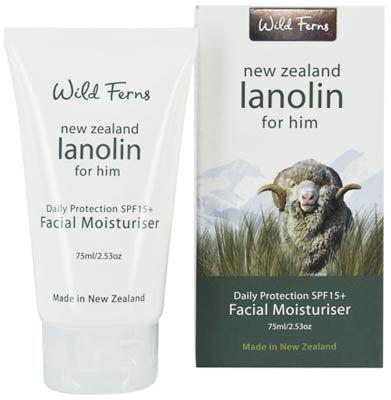 Lanolin for Him - Men's Facial Moisturizer - Wild Ferns - 75ml | Shop New Zealand