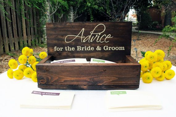 Hey, I found this really awesome Etsy listing at https://www.etsy.com/listing/209380836/advice-for-the-bride-and-groom-advice