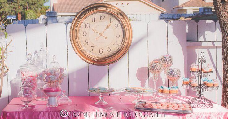Alice in wonderland quinceañera - dessert table