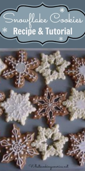 How To Make Snowflake Cookies - Recipe & Tutorial | http://whatscookingamerica.net #snowflake #cookies #gingerbread #royalicing #christmas