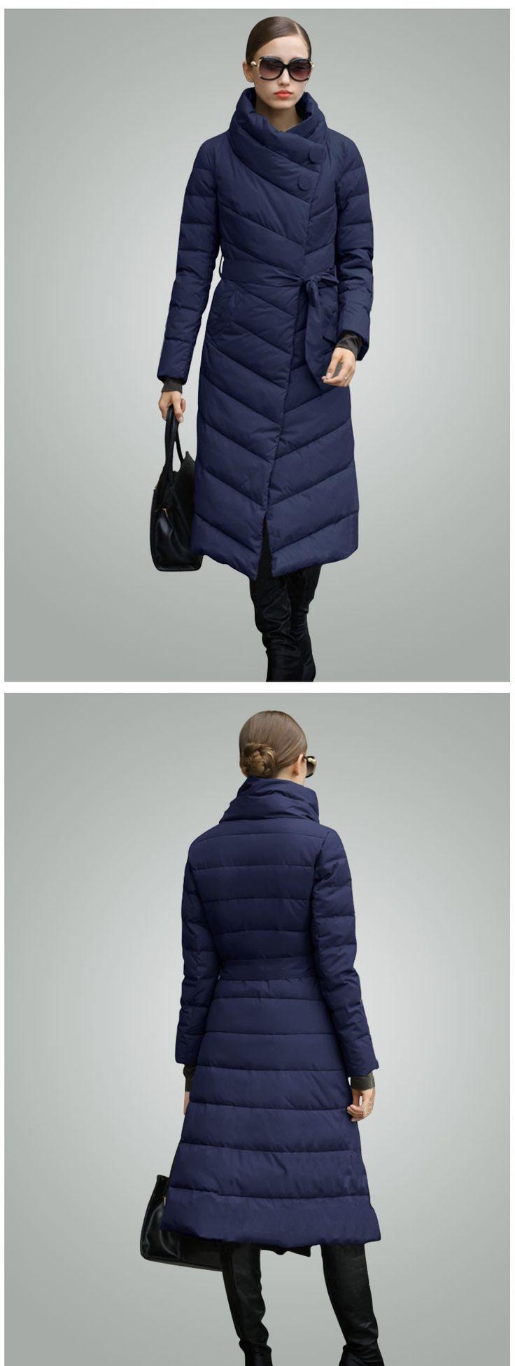 Ceprask 2016 Высокое Качество женские зимние пуховик Плюс Размер X долго женский пальто Тонкий Пояс Мода Теплый куртка casaco camperas купить на AliExpress