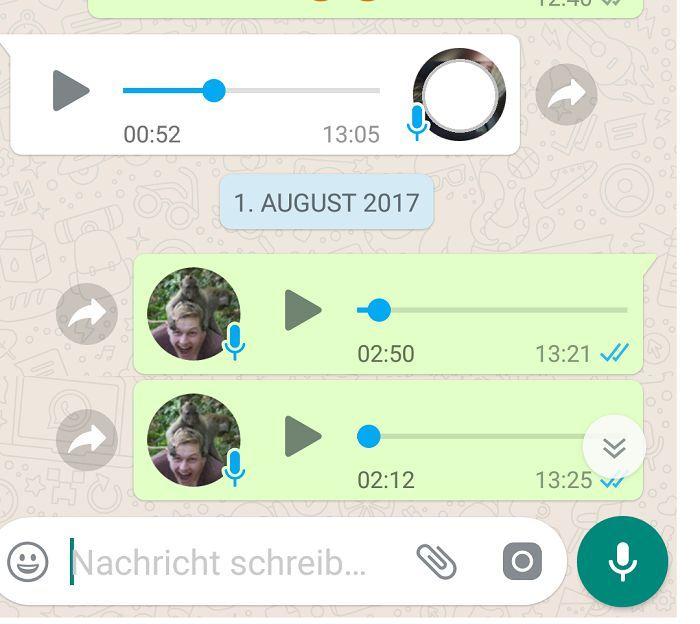 WhatsApp Sprachnachricht nicht über Lautsprecher abhören