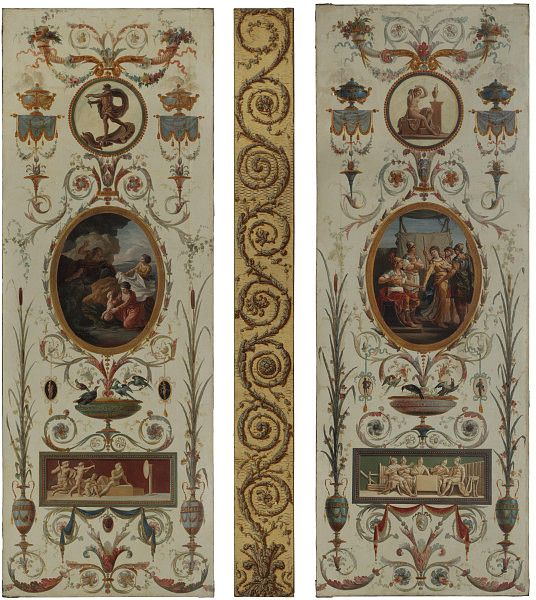 Panels, Charles-Louis Clérisseau, c. 1777, Paris, painted c. 1840-1855