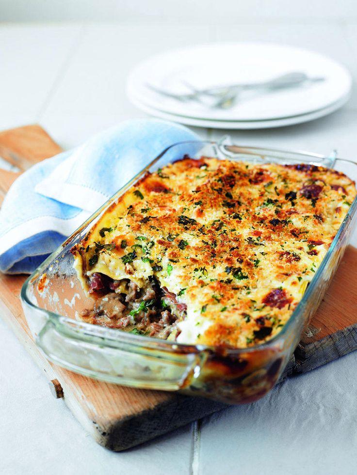 Mushroom, parma ham and mascarpone lasagne - delicious. magazine