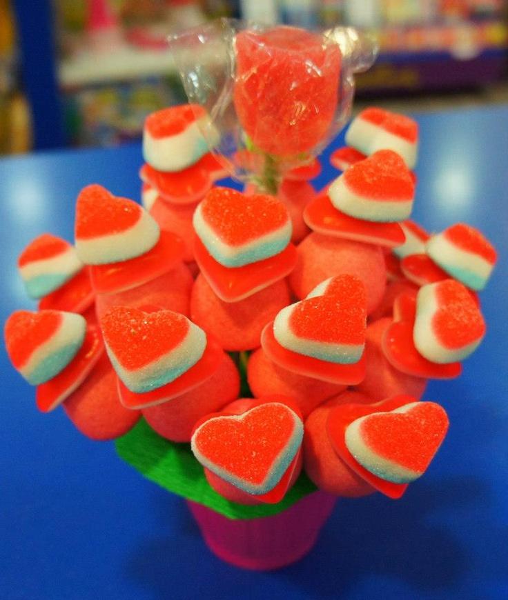 Ramos dulces de corazones para san valent n bodas o - Dulces de san valentin ...