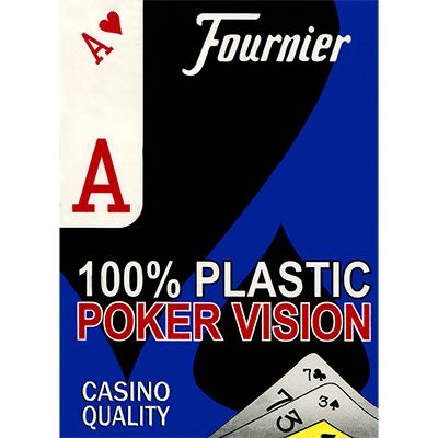 Fournier plastic Playing Cards Large Pips (blue) - Trick