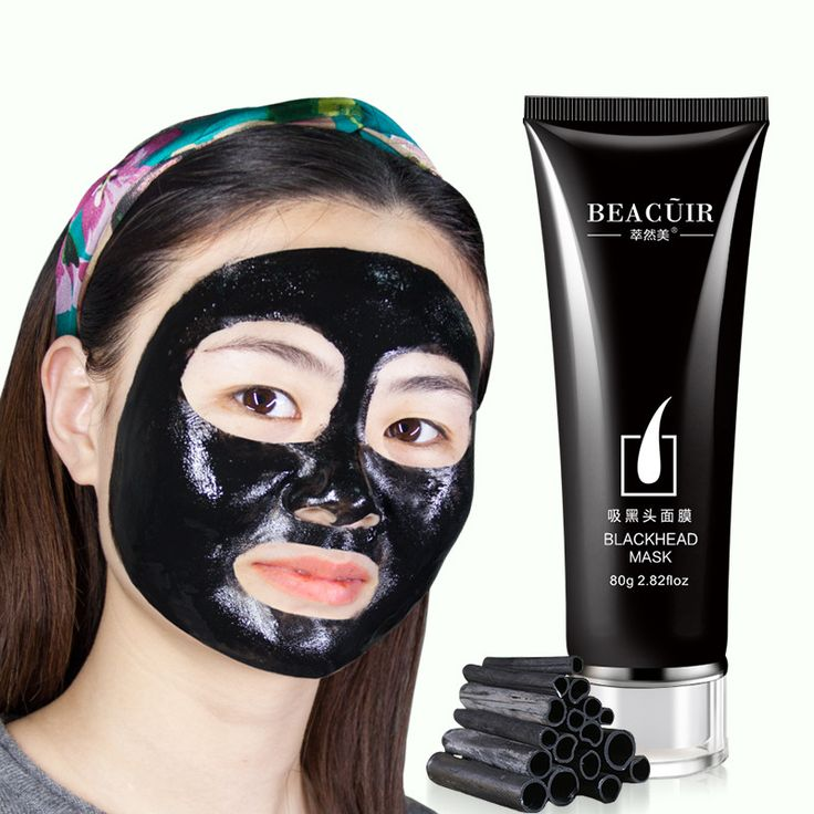 Cleansing Purifying Peel Off Black Mud Facial Face Mask Remove Blackhead Strawberry Nose Acne Remover Face Care Facial Mask