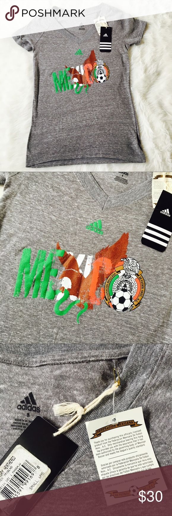 Adidas Mexico Soccer Team Selección Nacional Fits up to a small size 4. Limited edition! Mexico Gold Cup Style! adidas Tops Tees - Short Sleeve
