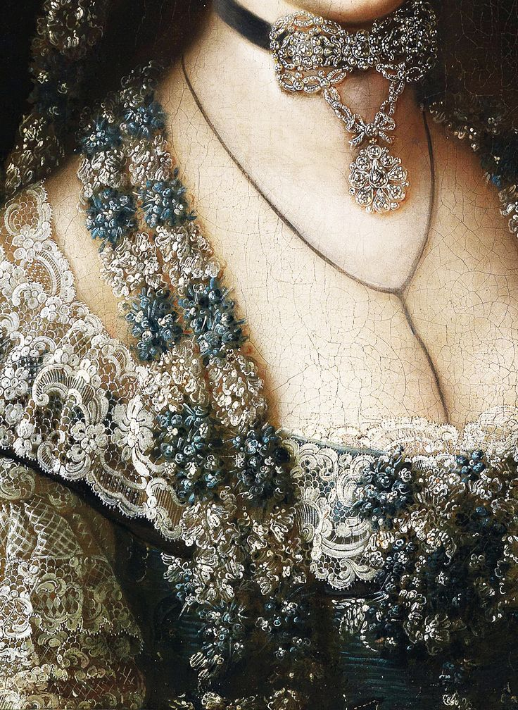c.1770. Portrait of an archduchess, presumably Archduchess Marie Christine (1742–1798) detail.
