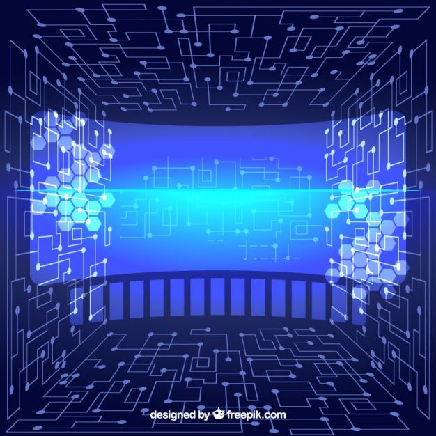 Virtual abstract technological background Vector | Free Download