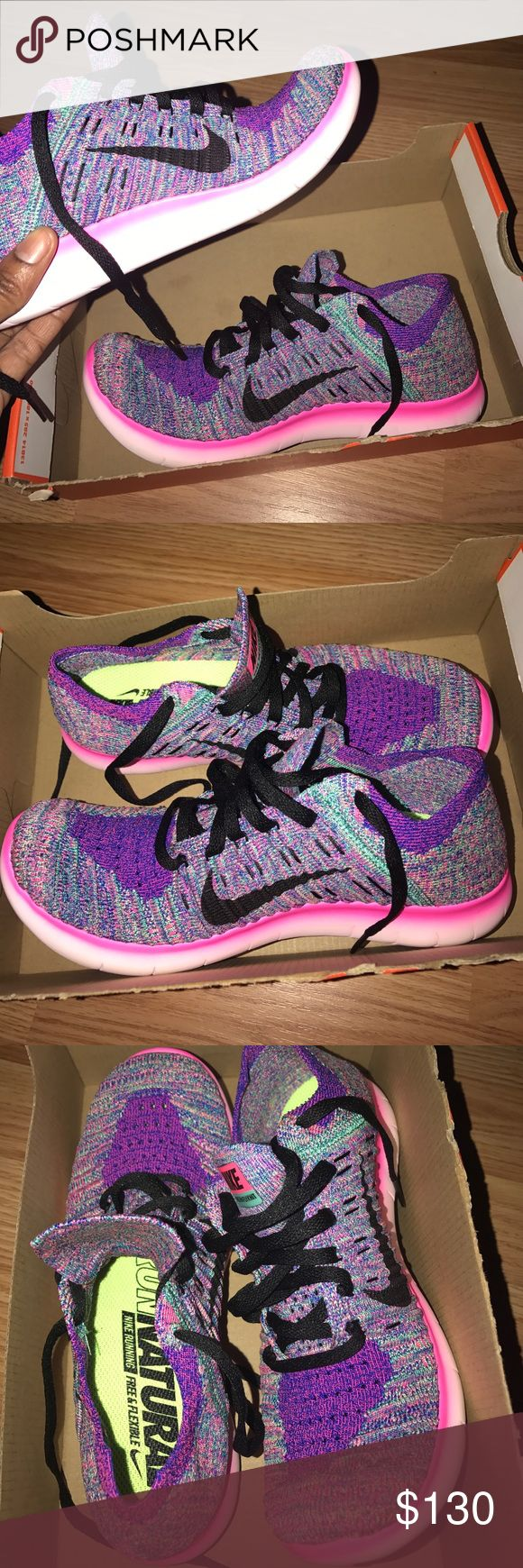 NIKE FREE RUN FLYKNIT (BNIB) 💕🎉⭐️beautiful🌹💅🏽💍 Authentic size 6.5 women! Brand new in box. Nike Shoes Sneakers