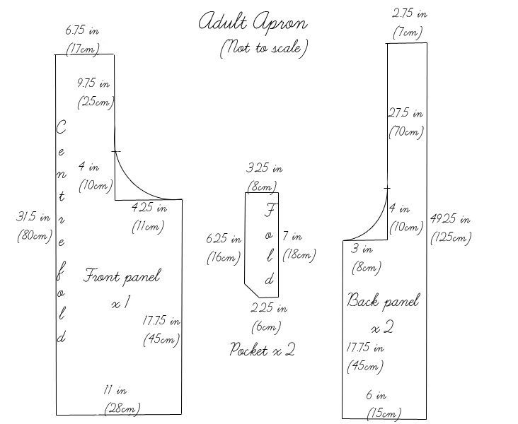 """Adult Japanese Apron tutorial pattern from Fabrics-Store.com in beautiful 59"""" wide linen!"""