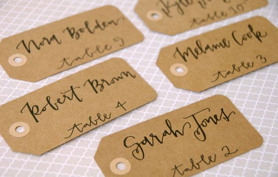 Wedding Calligraphy for Place Cards/Escort by LetteredLifeShop