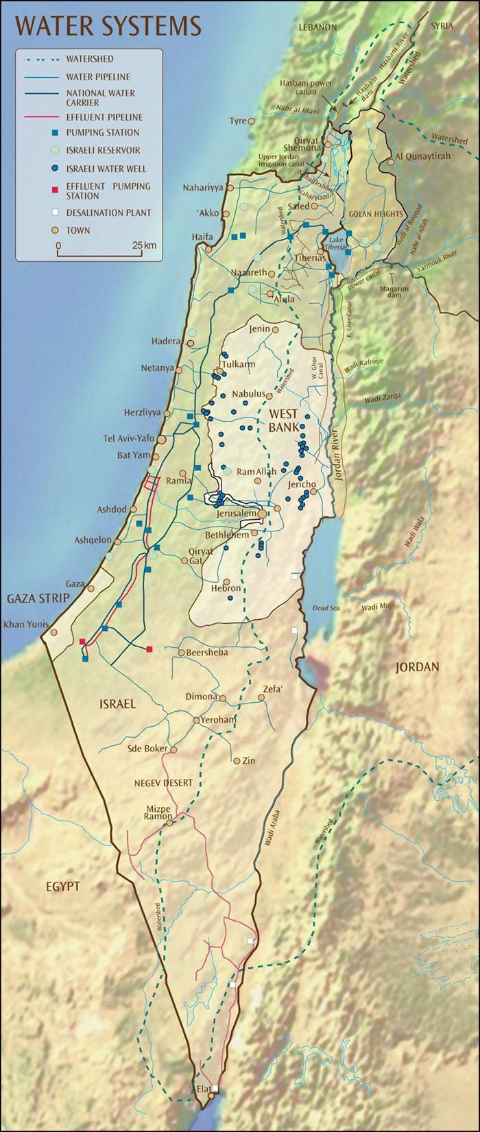 Mapping Israel's Water Systems