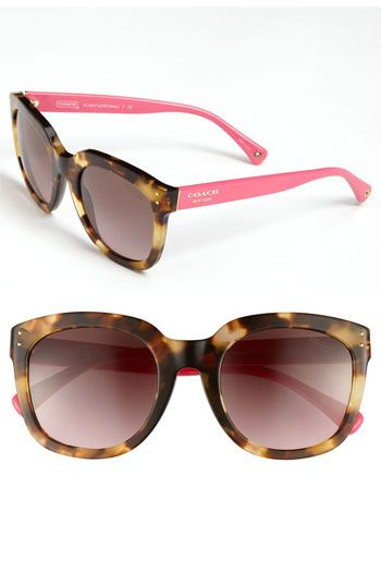 So cute! COACH Sunglasses available at #Nordstrom
