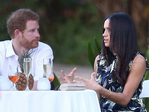 Prince Harry and Meghan attended the wedding of their friends in Jamaica