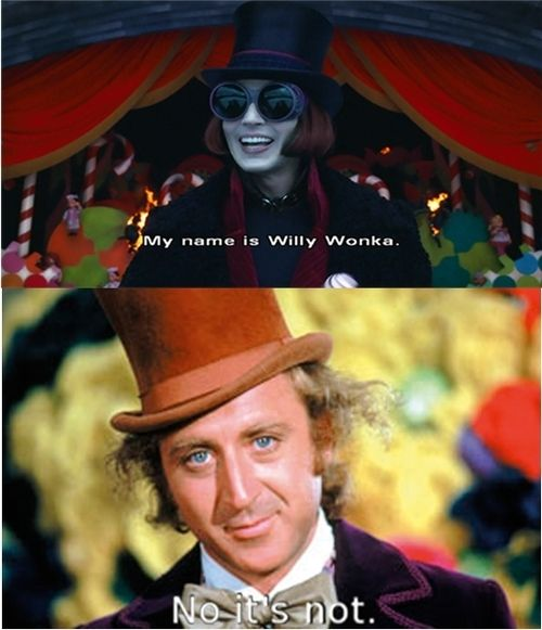 Willy WonkaJohnny Depp, Old Schools, Gene Wilderness, The Real, Chocolates Factories, Funny, Willis Wonka, The Originals, True Stories