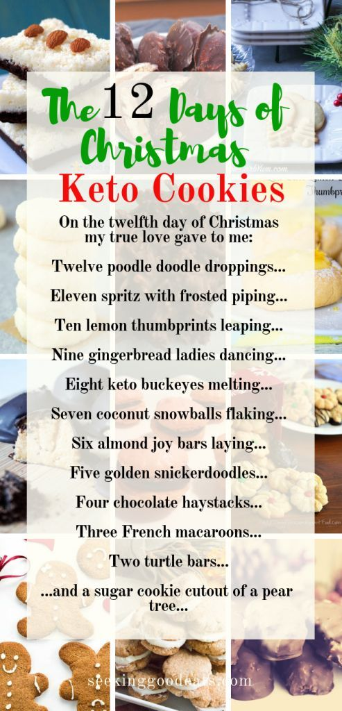 The 12 Days Of Christmas Keto Cookies Keto Food Community Keto