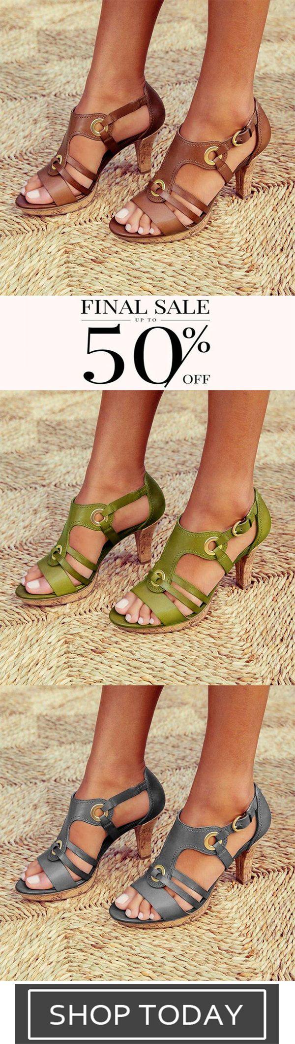 New Style Elegant Buckle Strap Sandals-3