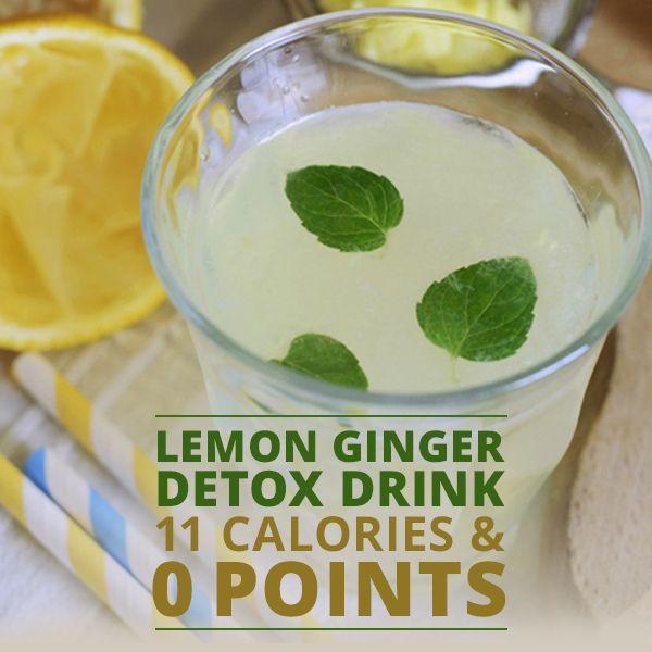 Lemon Ginger Detox Drink: 350mL d'eau + jus d'un demi citron + 1,5cm de gingembre frais