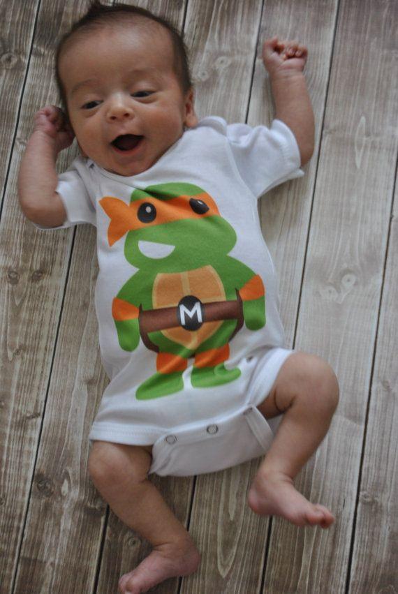 Teenage Mutant Ninja Turtles Onesie by PreppyChicKids on Etsy, $14.00
