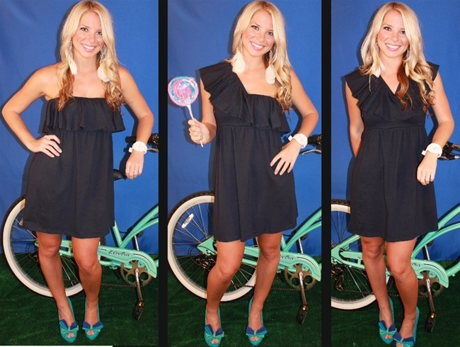 Revelry offers the cutest Navy game day dresses and game day apparel for Ole Miss, University of Michigan, and Rice fans!