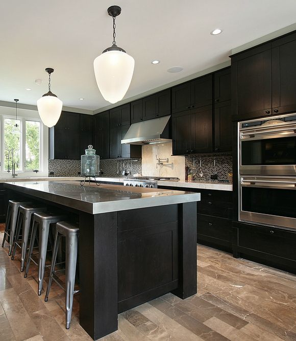 124 custom luxury kitchen designs part 1 dark wood for Luxury kitchen design
