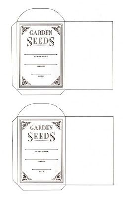 Printable flowers and a seed packet pattern for seed saving. | Content in a Cottage