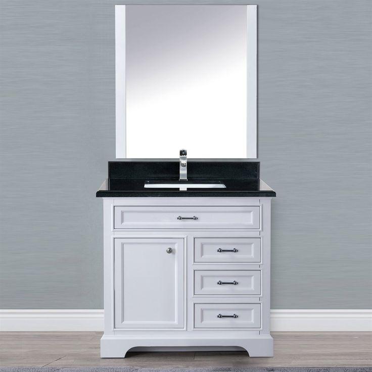 golden elite 36 in milan vanity set with mirror lowe s on lowes vanity id=59790