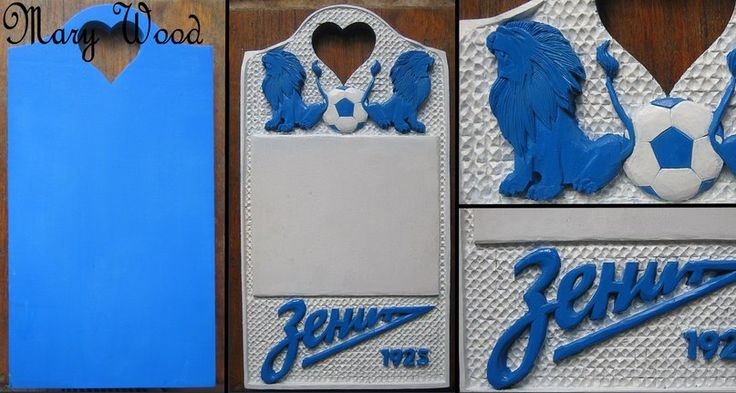 """Zenit"" (special order) A fan of the St. Petersburg football team ordered two of these for his wedding. I was happy to help! [1of1]"
