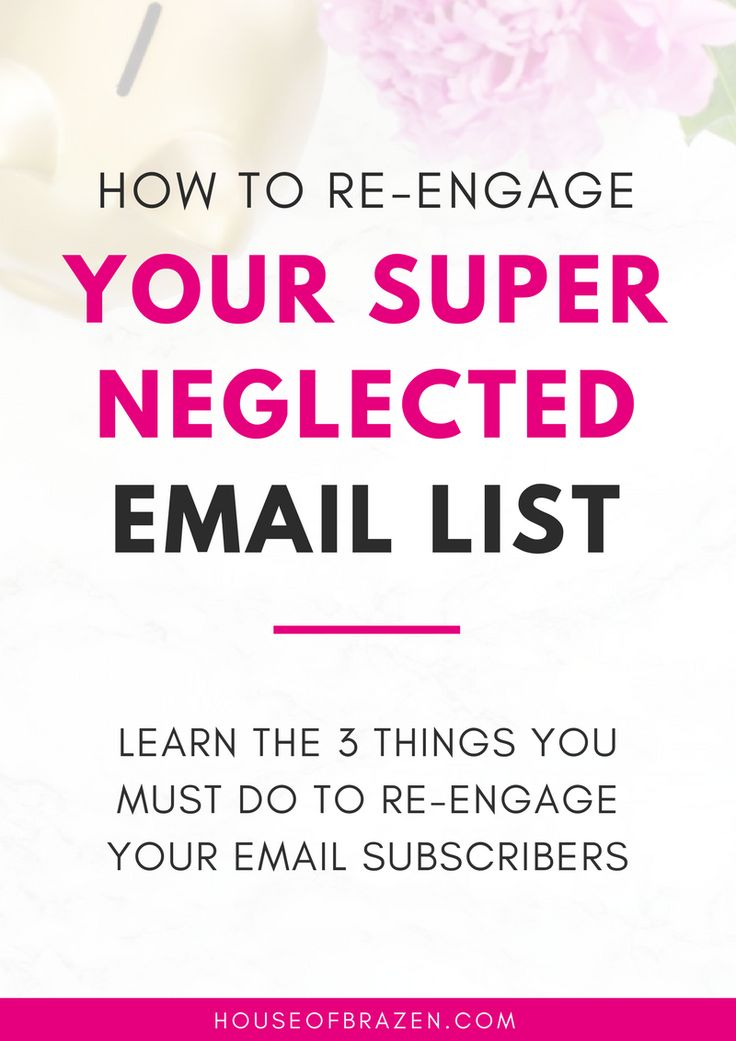 Learn the 3 things you MUST do in order to re-engage your email list after you've been neglecting them for too long! Click here!