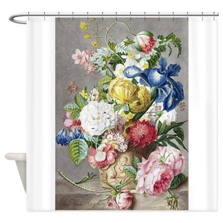 Vintage Bouquet Flowers Shower Curtain on CafePress.com