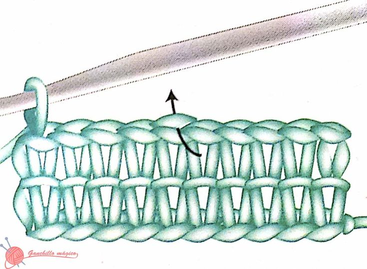 Grafico punto canalé cuello infinito