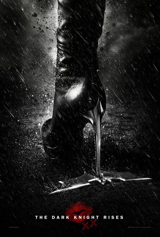 Le talon aiguille de Catwoman dans The Dark Knight Rises de Christopher Nolan