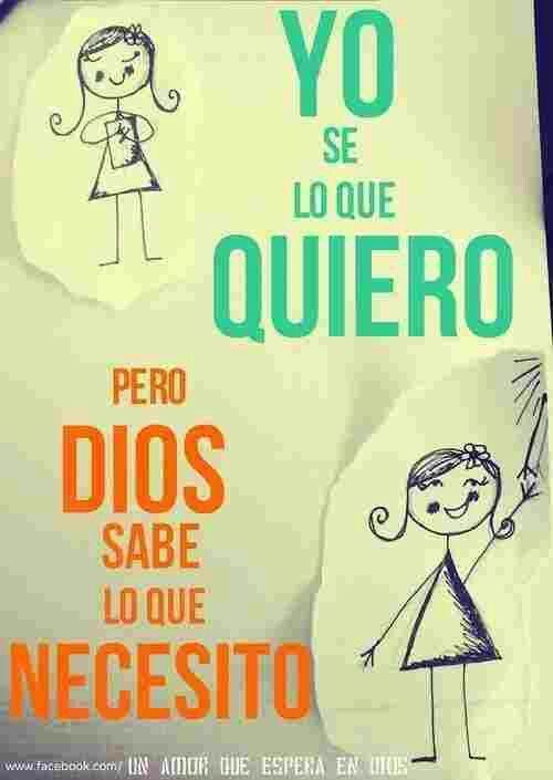 Dios sabe lo que necesito por eso hay que pedir su gracia y el saber discernir su voluntad  #Cuaresma2014 #discipulado #católico