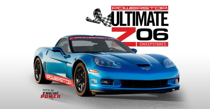 """ENTER TO WIN Power Stop's Ultimate Z06 Sweepstakes!  Hit the brakes and enter for a chance to win the 650HP PowerStop Ultimate Z06 Corvette built by the Engine Power team! It's easy to enter! Click the """"Enter Now"""" tab for your chance to win.  #PowerStop #PowerNation #UltimateZ06 #HitTheBrakes #Sweeps"""