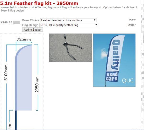 Feather flag Kit range can be customised online with ease #FLAGSTUFF  Order online from only £106.50 FULL KIT!
