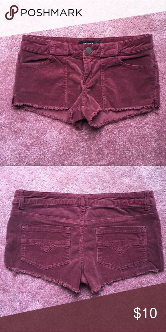 O'neill Burgundy shorts Never worn, cute for transitioning seasons. Cord material O'Neill Shorts Cargos
