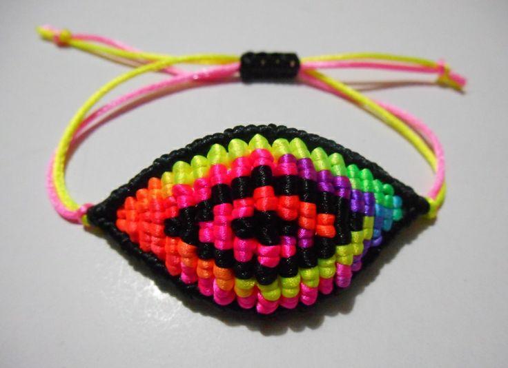 black/multicolor evil eye