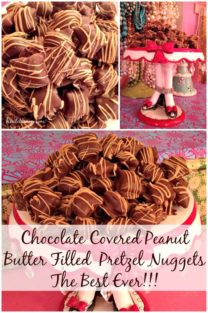 BEST EVER Chocolate Covered Peanut Butter Filled Pretzel Nuggets-Last Minute Christmas Dessert by Haute Tramp