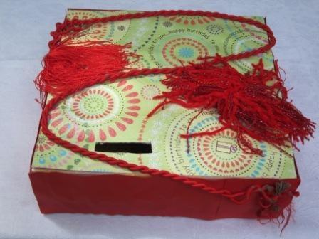 red money box
