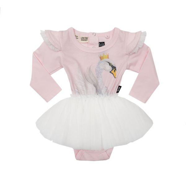 Swan Lake Long Sleeve Baby Circus Dress Light Pink