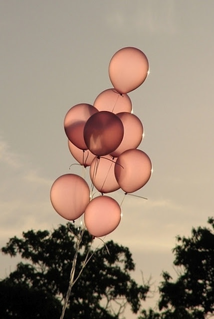 dusty rose balloons